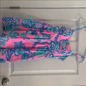 Pink and blue lily Pulitzer dress with pockets
